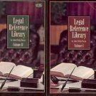 LEGAL REFERENCE LIBRARY VOL 1 & 2 LOT OF 2 BOOKS