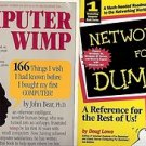 NETWORKING FOR DUMMIES COMPUTER WIMP LOT OF 2 BOOKS