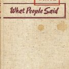 WHAT PEOPLE SAID W.L. WHTIE 1938