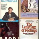 PEACE WITH GOD LANGUAGE OF FEELING LOT OF 4 BOOKS