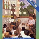 EFFECTIVE LITERACY INSTRUCTION 4TH EDITION BY LEU AND KINZER 1995