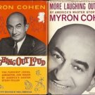 LAUGHING OUT LOUD BY MYRON COHEN LOT OF 2 BOOKS