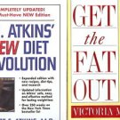 DR. ATKINS NEW DIET REVOLUTION LOT OF 2 BOOKS