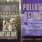POLLUTED SCIENCE ENVIORNMENTAL OVERKILL LOT OF 2 BOOKS