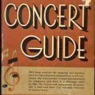 THE STANDARD CONCET GUIDE  1930 UPTON & BOROWSKI
