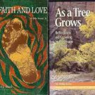 AS A TREE GROWS IN FAITH & LOVE  LOTS OF 2 BOOKS