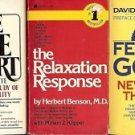 FEELING FOOD THE RELAXATION RESPONSE LOT OF 3 BOOKS