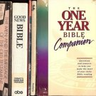 THE ONE YEAR BIBLE COMPANION MEN & THE MESSAFE OF OLD TESTAMENT LOT OF 5 BOOKS