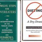 TWELVE STEPS FOR OVEREATERS DIETING LOT OF 2 BOOKS