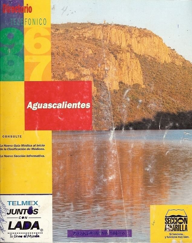 AGUASCALIENTES DIRECTORIO TELEFONICO 1996-1997