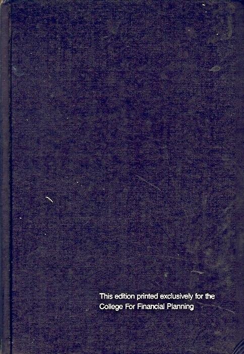 PERSONAL FINANCIAL PLANNING BY HALLMAN & ROSENBLOOM 1985