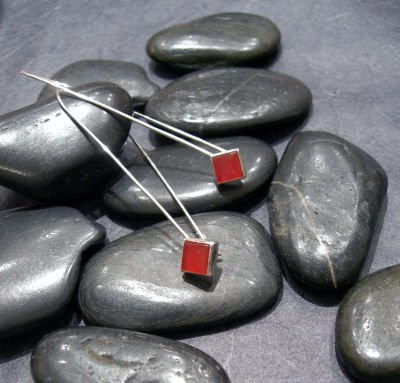 Squares on a Wire - Carnelian