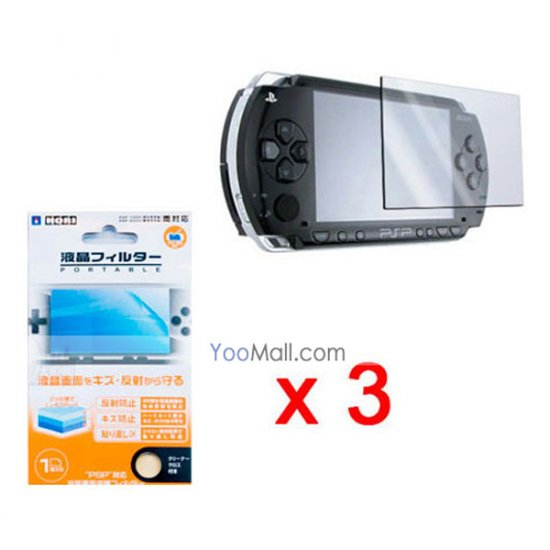 3 pieces Brand New LCD Screen Protector Cover for Sony PSP
