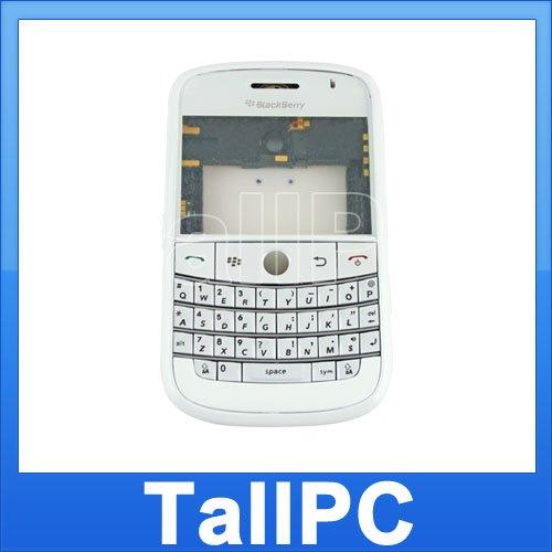 BlackBerry BOLD 9000 FULL Housing Case Cover White USA
