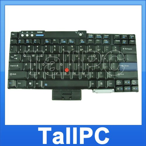 New IBM T60 T61 keyboard laptop w/ point stick Black US