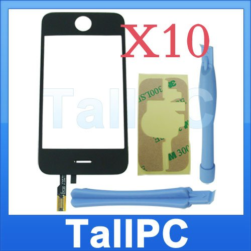 x10 Iphone 3G Digitizer Touch Screen + adhesive 2 tools