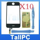 x10 Iphone 3G Digitizer Touch Screen + adhesive 2TL US