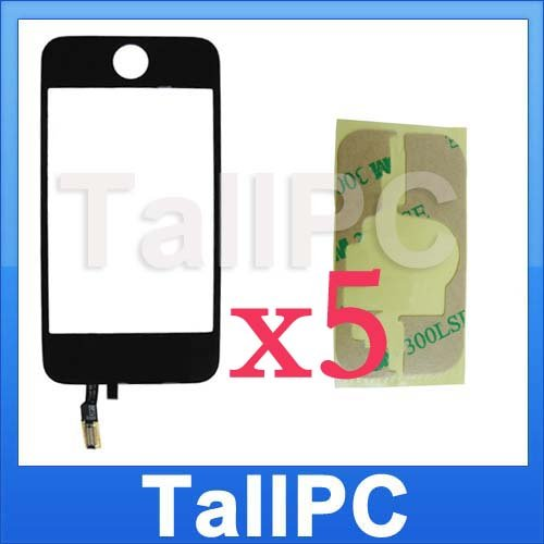 x5 NEW iphone 3G Digitizer Touch Screen +adhesive kit