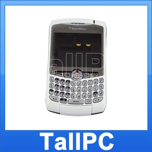For BlackBerry Curve  8310 Full Housing Cover US white