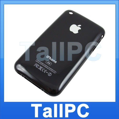 x10 New Iphone 3G Back housing Cover Case 8GB BLACK