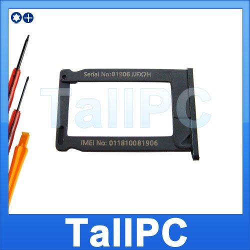 NEW iPhone 3G 3GS SIM Card Tray Holder black US + tool