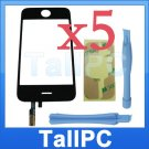 x5 iPhone 3GS Touch Screen Digitizer +Sticker +2 tools