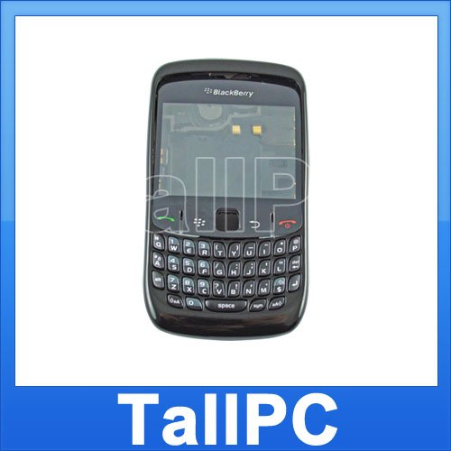 Black BlackBerry Curve 8520 FUll Housing Case  From USA