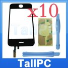 x10 Iphone 3GS Digitizer touch Screen + adhesive +tools