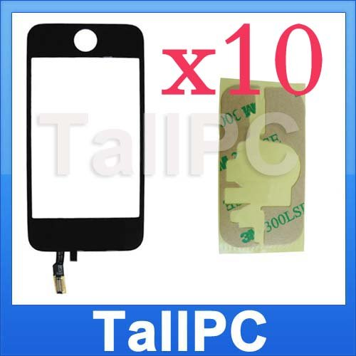 x10 NEW iphone 3G Digitizer Touch Screen + adhesive USA
