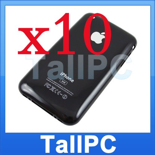 x10 Iphone 3G Back housing Cover 8GB iphone 3G US Black