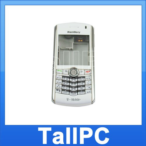 Blackberry Pearl 8100 Full Housing Cover Case White US
