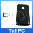 New Iphone 3G Back housing Cover Case 16GB + Tray Black