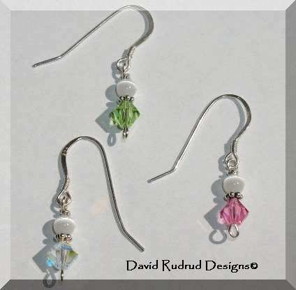 New SWAROVSKI CRYSTAL Birthstone Dangle Earrings