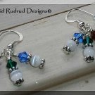 NEW BOUTIQUE Crystal Cluster Earrings Swarovski and Sterling Silver David Rudrud Designs