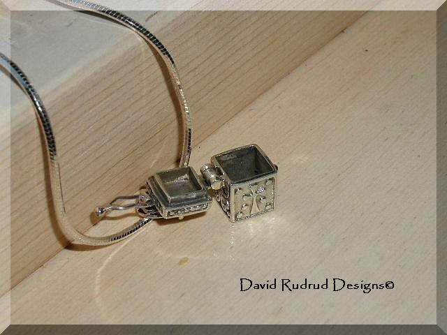 Boutique Prayer Box Pendant Sterling Silver Necklace
