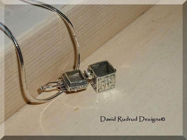 Boutique Prayer Box Pendant Sterling Silver Necklace