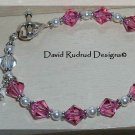 Beaded Gift Rosary Bracelet Sterling Swarovski Crystal Pearl