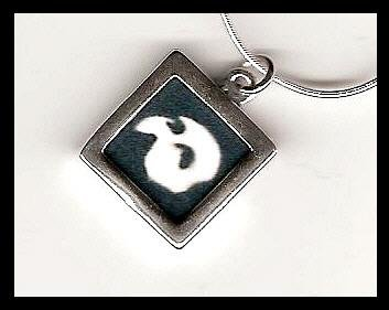 Phantom Of The Opera Charm Pendant Sterling Mask Necklace