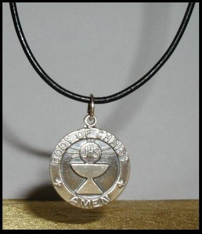 BOYS FIRST 1ST COMMUNION NECKLACE Gift Jewelry Sterling Leather