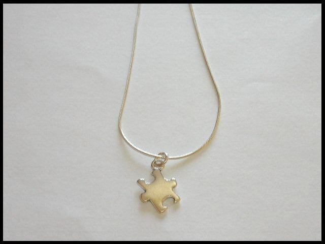 18 Inch Autism Awareness Necklace 100% Sterling Silver