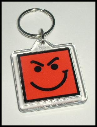 Have A Nice Day Smirky Guy BON JOVI Key Ring KeyChain