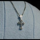 16 Inch Sterling Silver Cross Necklace 1st First Communion Gift Jewelry