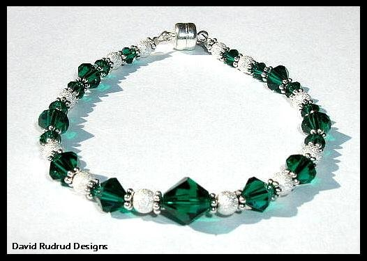 WOW!  Birthstone Bracelet Gift Jewelry Swarovski and Sterling