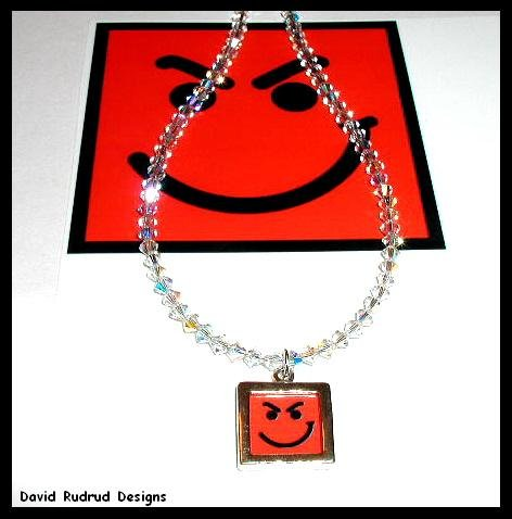 Limited Ed. Clear Crystal BON JOVI Have A Nice Day Necklace 20 inches