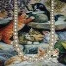 Bridesmaid Bride Swarovski Crystal Pearl Necklace 20 inches Wedding
