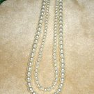 Bridesmaid Bride 2 Strand Swarovski Crystal Pearl Necklace 20 inches Wedding
