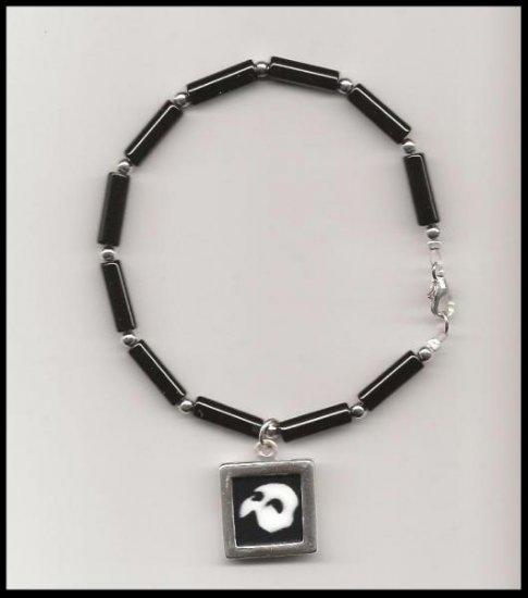 Phantom of the Opera Charm Bracelet Sterling Black Onyx