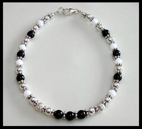 Custom Crystal Gemstone and Sterling Silver Bracelet