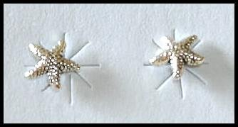 Solid Sterling Silver STARFISH post earrings