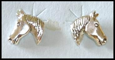 Solid Sterling Silver HORSE post earrings